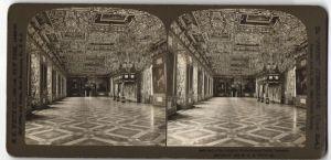 Stereo-Fotografie H. C. White Co., New York, Ansicht Frederiksborg, Schloss, Rittersaal, Dänemark