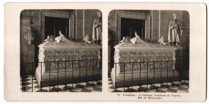 Stereo-Fotografie N.P.G., Berlin-Steglitz, Ansicht Versailles, le Chateau, Tombeau de Charles, Duc de Bourgogne