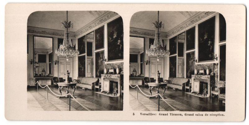 Stereo-Fotografie N.P.G., Berlin-Steglitz, Ansicht Versailles, Grand Tiranon, Grand salon de réception