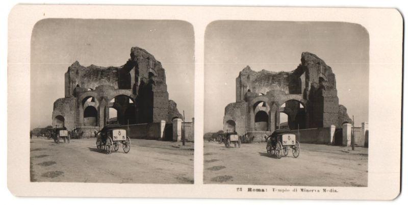 Stereo-Fotografie N.P.G., Berlin-Steglitz, Ansicht Roma, Tempio di Minerva Media