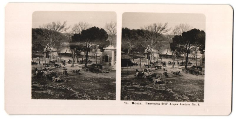 Stereo-Fotografie unbekannter Fotograf, Ansicht Roma, Panorama dell' Acqua Acetosa