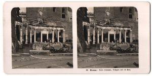 Stereo-Fotografie N.P.G., Berlin-Steglitz, Ansicht Roma, Foro romano, Tempio dei 12 dei
