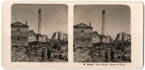 Stereo-Fotografie N.P.G., Berlin-Steglitz, Ansicht Roma, Foro romano, colonna di Focas