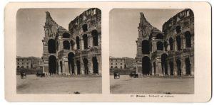 Stereo-Fotografie N.P.G., Berlin-Steglitz, Ansicht Roma, Dettagli al Coliseo