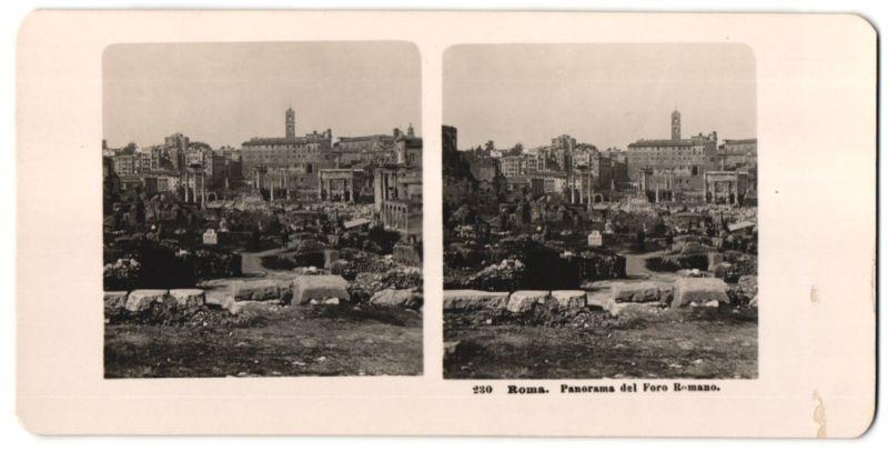 Stereo-Fotografie unbekannter Fotograf, Ansicht Roma, Panorama del Foro Romano