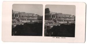 Stereo-Fotografie unbekannter Fotograf, Ansicht Roma, Colosseo