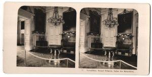 Stereo-Fotografie N.P.G., Berlin-Steglitz, Ansicht Versailles, Grand Trianon, Salon des Malachites