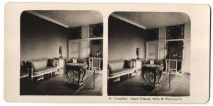 Stereo-Fotografie N.P.G., Berlin-Steglitz, Ansicht Versailles, Grand Trianon, Salon de Napoleon Ier
