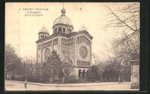AK Landau, Ansicht der Synagoge