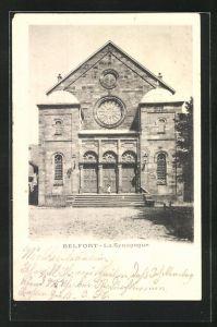 AK Belfort, Ansicht der Synagoge