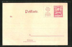 AK Postkarte der Private Stadtpost Lipsia