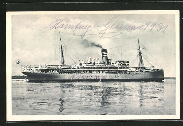 AK Passagierschiff Njassa, Hamburg-Amerika-Linie (Afrika-Dienst)