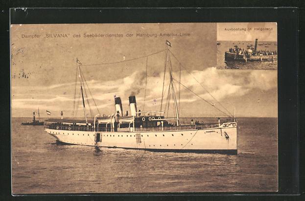 AK Dampfer Silvana des Seebäderdienstes der Hamburg-Amerika-Linie