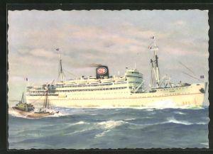 AK Passagierschiff Djenne, Compagnie de Navigation Paquet