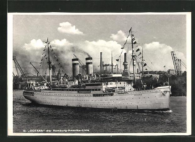 AK Passagierschiff Oceana der Hamburg-Amerika-Linie