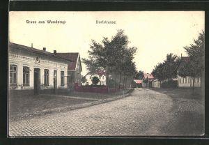 AK Wanderup, Blick in die Dorfstrasse