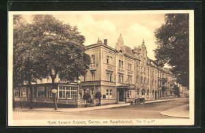 AK Weimar, Hotel Kaiserin Augusta in der Nähe des Hauptbahnhofes