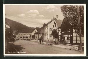 AK Heimbach / Eifel, Am Hotel Eifeler Hof