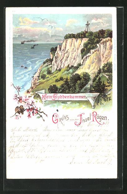 Lithographie Sassnitz-Insel Rügen, Klein Stubbenkammer