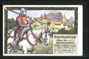AK Singen, Hohentwielspiele, Ritter auf seinem Pferd