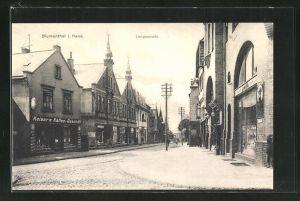 AK Blumenthal i. Hann., Langestrasse mit Kaiser's Kaffee-Geschäft