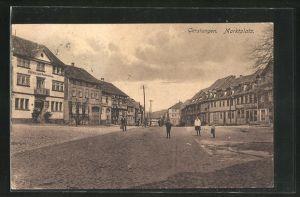 AK Gerstungen, Gasthaus zum Rautenkranz am Marktplatz