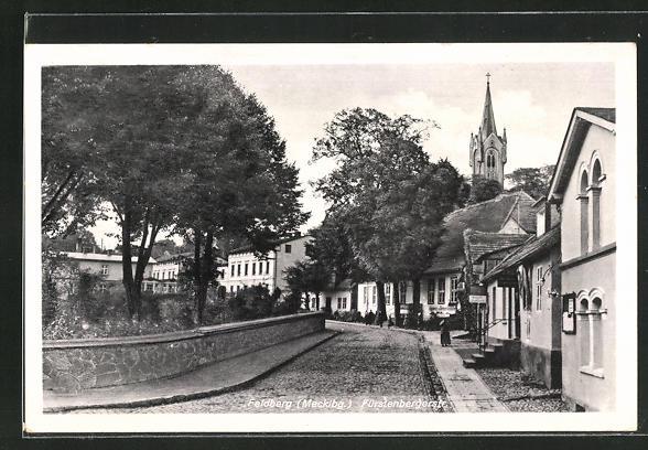 AK Feldberg / Mecklbg., Fürstenbergerstrasse