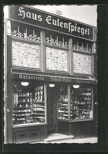AK Bad Aachen, Teilansicht Haus Eulenspiegel, Neujahrskarte