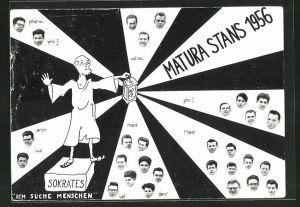 AK Stans, Absolvia Matura 1956, Sokrates mit Laterne