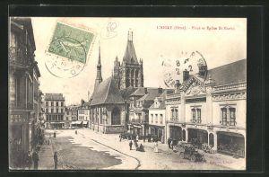 AK Laigle, Place et Eglise St. Martin
