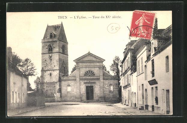 AK Trun, L'Eglise, Tour du XVe siecle