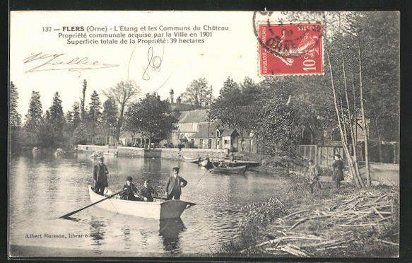 AK Flers, L'Etang et les Communs du Chateau