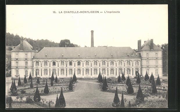 AK La Chapelle-Montligeon, L'Imprimerie