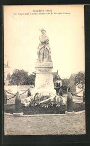 AK Remalard, Monument Commemoratif de la grand Guerre