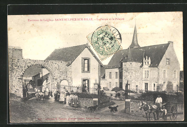 AK Saint-Sulpice-sur-Rille, La Ferme et le Prieure