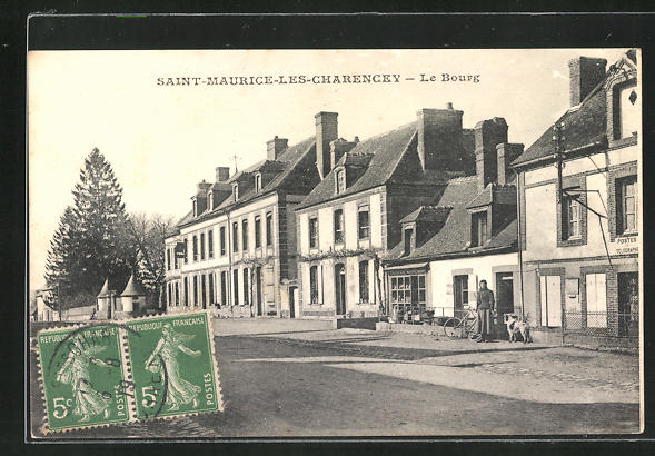 AK Saint-Maurice-les-Charencey, Ortspartie mit Post