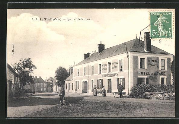 AK Le Theil, Quartier de la Gare, Hotel de la Gare