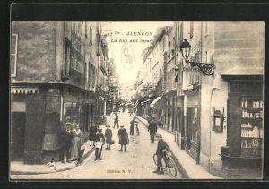 AK Alencon, Vue dans la Rue aux Sieurs