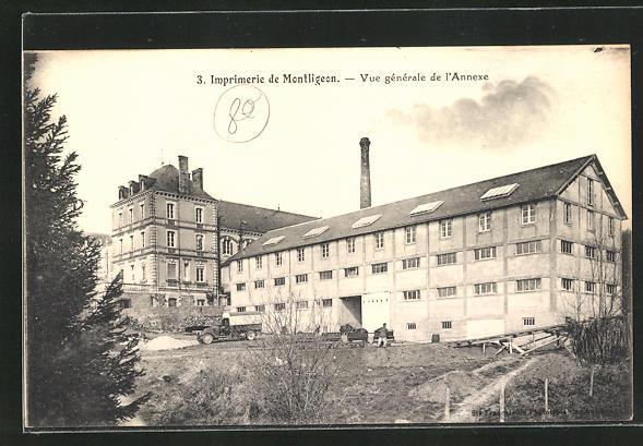 AK La Chapelle-Montligeon, Imprimerie, Vue generale de l'Annexe