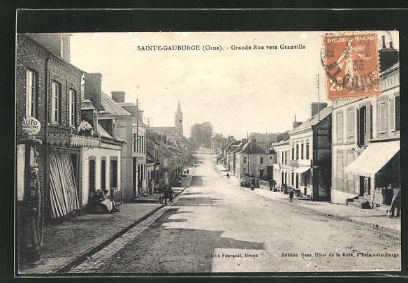 AK Saint-Gauburge, Grande Rue vers Granville