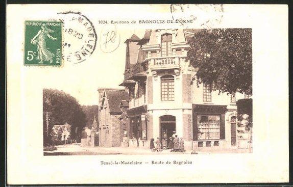 AK Tesse-la-Madeleine, Route de Bagnoles et Boutique