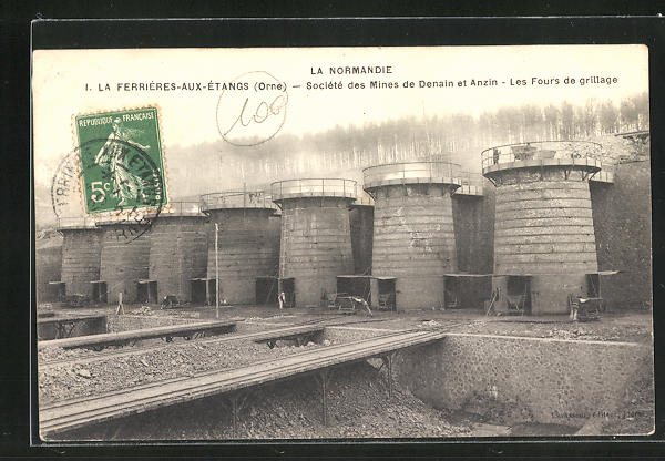 AK La Ferrieres-aux-Etangs, Societe des Mines de Denain et Anzin, Les Fours de grillage