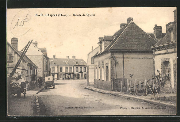 AK Aspres, Route de Crulai