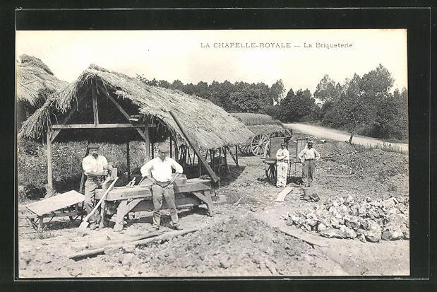 AK La Chapelle-Royale, La Briqueterie