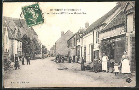 AK St.-Victor-de-Buthon, Grande Rue, Strassenpartie