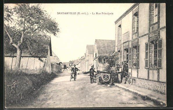 AK Sandarville, La Rue Principale, Strassenpartie