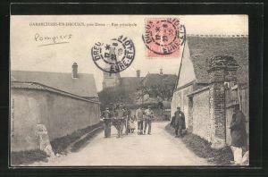 AK Garancieres-en-Drouais, Rue principale, Strassenpartie