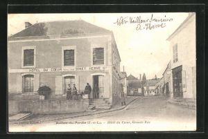 AK Authon-du-Perche, Hotel du Coer, Grande Rue