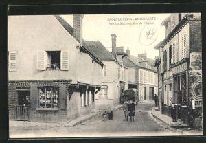 AK Saint-Lubin-des-Joncherets, Vieilles Maisons Rue de l'Eglise