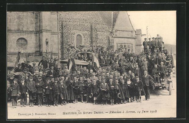 AK Arrou, Maitrise de Notre-Dame, Reunion a Arrou, 14 juin 1923